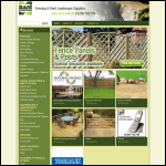 Screen shot of the B & M Fencing Ltd website.