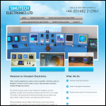 Screen shot of the Simutech Electronics Ltd website.