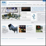 Screen shot of the Simulation Systems Ltd website.
