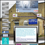 Screen shot of the Simms Electrical Distributors Ltd website.