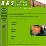 Screen shot of the B & S Fencing website.