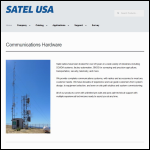 Screen shot of the Satel Electronics website.