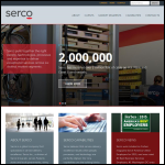 Screen shot of the Serco Aerospace website.