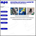 Screen shot of the Measuring & Process Control Ltd website.