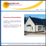 Screen shot of the Sun Electric Ltd website.