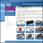 Screen shot of the Stonegate Instruments Ltd website.
