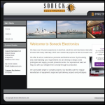 Screen shot of the Soneck Electronics website.