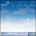 Screen shot of the Marlec Engineering Co Ltd website.