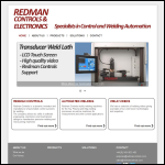 Screen shot of the Redman Controls & Electronics Ltd website.