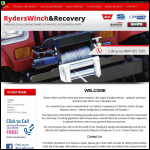Screen shot of the Ryders Winch & Recovery website.