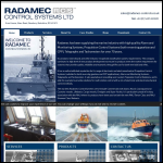 Screen shot of the Radamec Control Systems Ltd website.