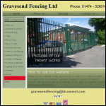 Screen shot of the Gravesend Fencing Ltd website.