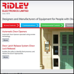 Screen shot of the Ridley Electronics Ltd website.