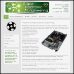 Screen shot of the Roper Electronic Engineering Ltd website.