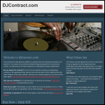Screen shot of the D J Contracts website.