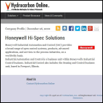 Screen shot of the Honeywell Hi-Spec Solutions website.