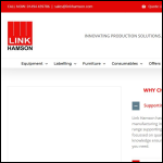 Screen shot of the Link Hamson Ltd website.