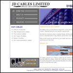 Screen shot of the JD Cables Ltd website.