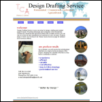 Screen shot of the Design Drafting Services website.