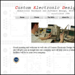Screen shot of the Custom Electronic Design Services Ltd website.