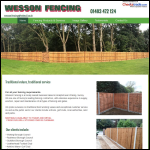 Screen shot of the Wesson Fencing website.