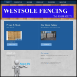 Screen shot of the West Sole Fencing website.