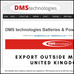 Screen shot of the DMS Technologies Ltd website.