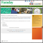Screen shot of the Faraday Printed Circuits Ltd website.