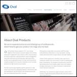 Screen shot of the Oval Products Ltd website.