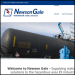 Screen shot of the Newson Gale Ltd website.