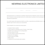 Screen shot of the Newring Electronics website.