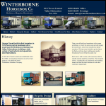 Screen shot of the Valley Fabrications / Winterbourne Horse Box Co website.