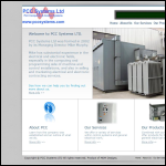 Screen shot of the P.C.C. Systems Ltd website.