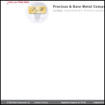 Screen shot of the P & B Metal Components Ltd website.