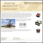 Screen shot of the Wound Products Ltd website.