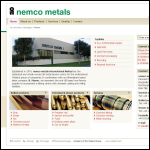 Screen shot of the Nemco Metals International Ltd website.