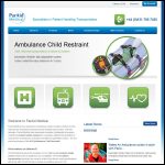 Screen shot of the Paraid Medical website.