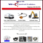 Screen shot of the North West Cables Ltd website.