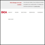 Screen shot of the DCA Design International Ltd website.