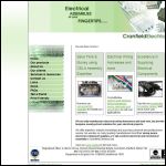 Screen shot of the Cranfield Electrical Ltd website.