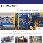 Screen shot of the CM Machinery website.