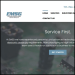Screen shot of the Electronic Manufacturing Services website.