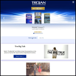 Screen shot of the Trojan Products website.
