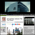 Screen shot of the Jackson, Peter website.