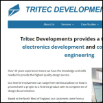 Screen shot of the TRITEC Developments Ltd website.