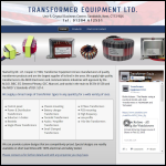 Screen shot of the Transformer Equipment Ltd website.
