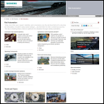 Screen shot of the Siemens Rail Automation website.
