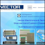 Screen shot of the Vector Electronics website.