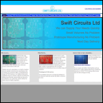 Screen shot of the Swift Circuits Ltd website.