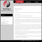 Screen shot of the Syntegra website.